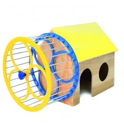 House for hamster with wheel