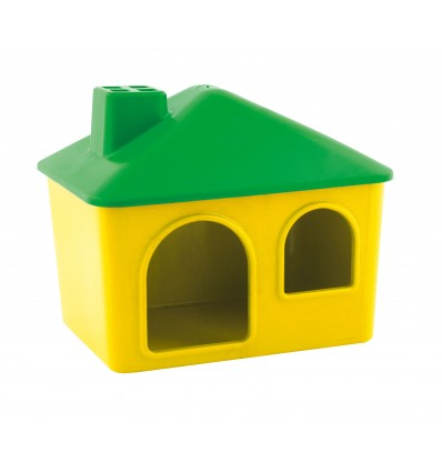 Plastic house for rodents
