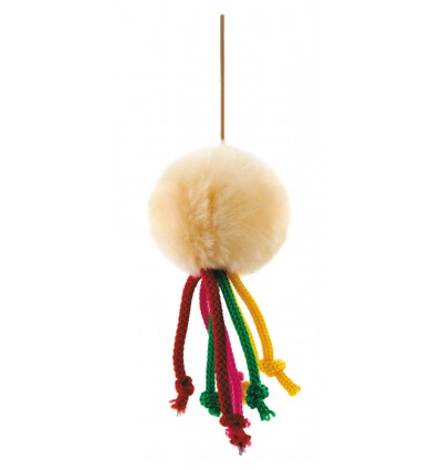 Игрушка «Мячик меховой» на резинке