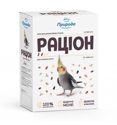Diet for medium-sized parrots