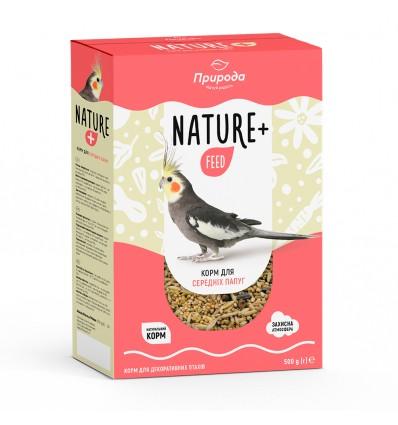 Корм Nature + feed для средних попугаев