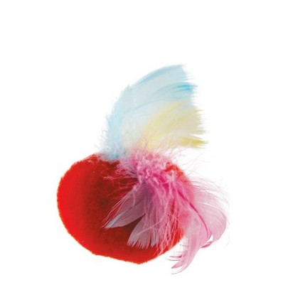 "Toy ""Plush ball with feathers"""