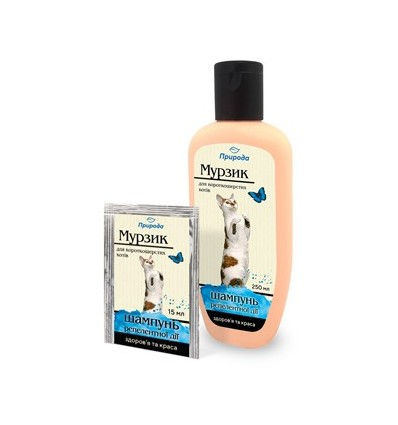 Гигиенический шампунь для короткошерстных кошек «Мурзик»